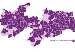 177 MUNICÍPIOS NAS ESTATÍSTICAS: Paraíba confirma 626 novos casos de Covid-19 e ultrapassa 7 mil infectados