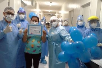 alta 2 - Hospital Universitário de Campina Grande comemora primeiras altas da UTI de pacientes com covid-19