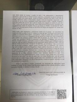 bo 2 - BRIGA PELA HERANÇA BRAGUISTA: Neto registra Boletim de Ocorrência contra filha adotiva do casal