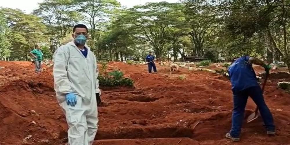 cemiterio - SEM CONTROLE: Brasil registra mais de 1 mil mortes por coronavírus em 24 horas