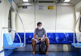 Uso de máscara passa a ser obrigatório para embarque nos trens da Grande João Pessoa