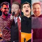 montagem skank 4 - Lives do sábado: Dennis DJ, Michel Teló, Skank, David Guetta e mais shows para ver em casa
