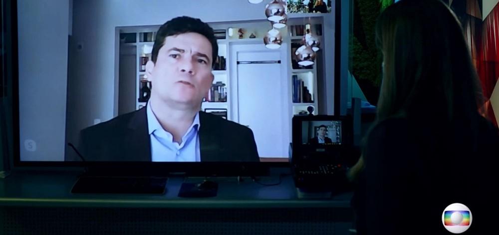 sergio moro fantastico entrevista poliana abritta globo reproducao fixed large - ENTREVISTA À REDE GLOBO: Sérgio Moro diz que Bolsonaro não incentivou combate à corrupção; VEJA VÍDEO