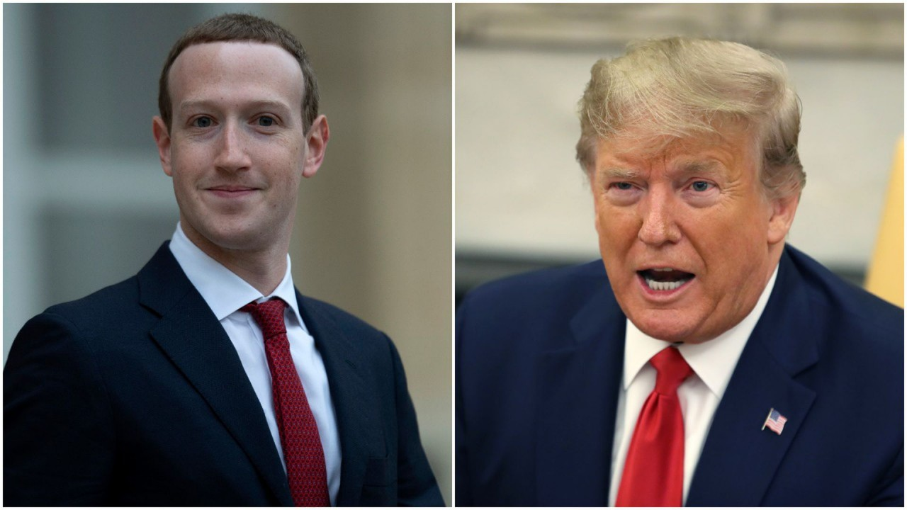 1568933205766 - Facebook apaga propaganda de campanha de Trump alegando associação com símbolo nazista
