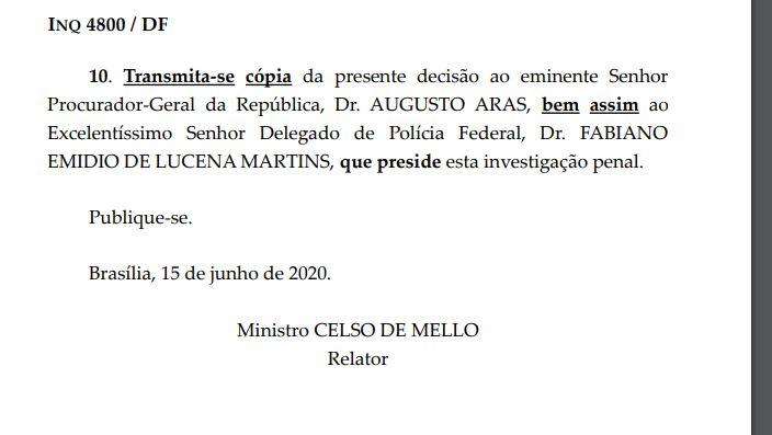 Assinatura Celso de Melo - CERCO SE FECHA NA PÉS DE BARRO: STF instaura novo inquérito para investigar Wilson Santiago por lavagem de dinheiro, fraude a licitação e peculato; LEIA
