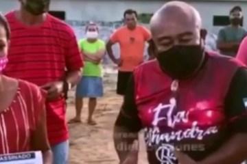Vereadores de oposição em Alhandra promovem aglomeração e expõe moradores ao risco – VEJA VÍDEO