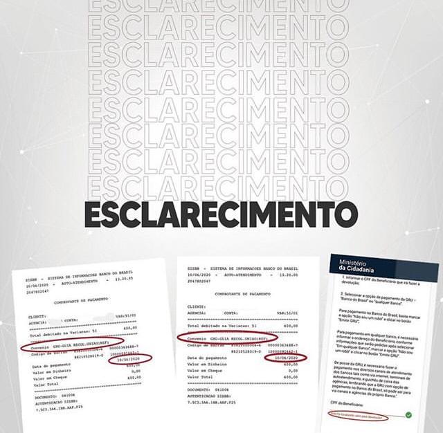 WhatsApp Image 2020 06 15 at 22.18.15 - Neto de Armando Abilio diz que teve nome usado para solicitar auxílio emergencial e destaca que a quantia já foi devolvida