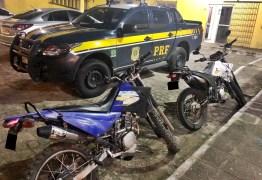 PRF na Paraíba recupera três motocicletas roubadas durante abordagens diferentes