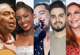 LIVES: Hoje tem Gil e Iza, Safadão e Luan Santana, Ivete Sangalo, Belo e mais shows