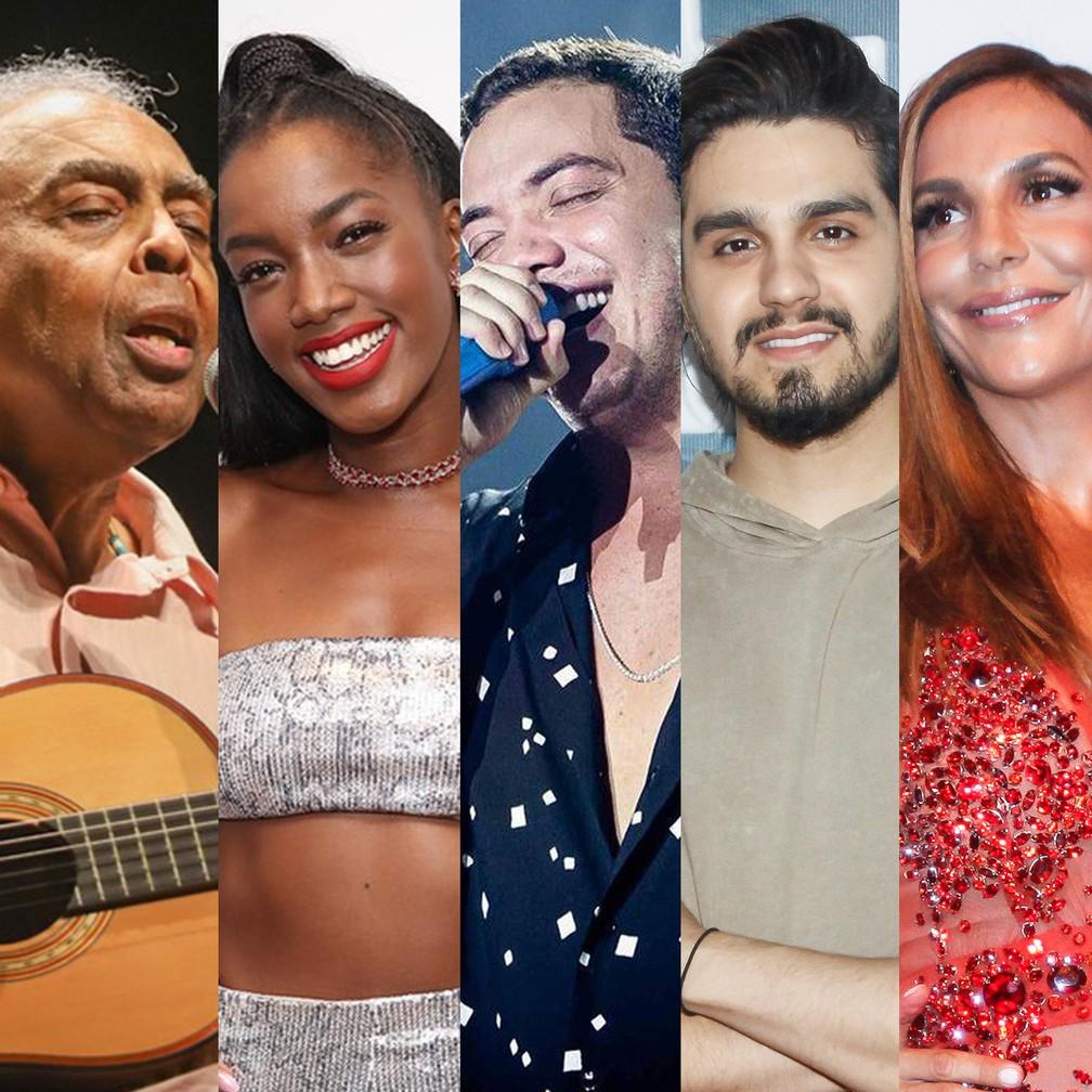 lives sabado 20 - LIVES: Hoje tem Gil e Iza, Safadão e Luan Santana, Ivete Sangalo, Belo e mais shows