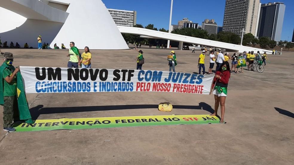 whatsapp image 2020 06 21 at 10.42.24 - Grupos contra e a favor de Bolsonaro fazem atos em Brasília; Veja imagens