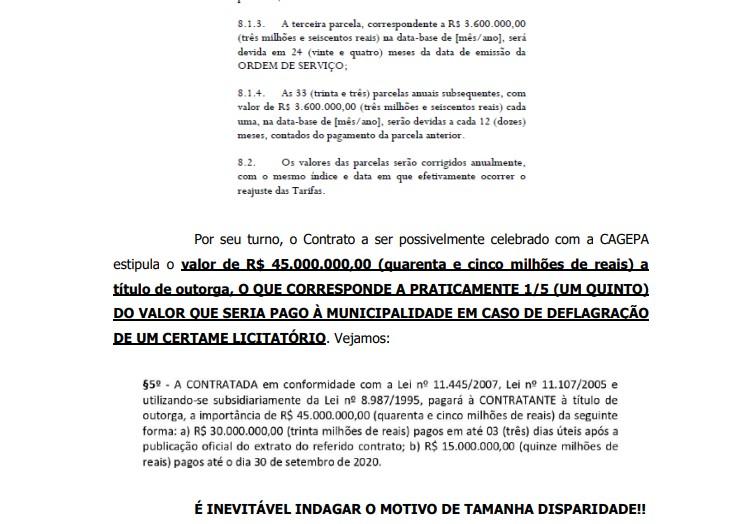 AGRAVO DE INSTRUMENTO - POLÊMICA NA ÁGUA DE CAMPINA: Ação na justiça acusa Romero de cancelar licitação e acertar com a Cagepa causando prejuízo de 45 milhões - VEJA DOCUMENTOS