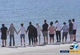 HOMENAGEM: Elenco de 'Glee' se reúne em lago onde Naya Rivera morreu afogada