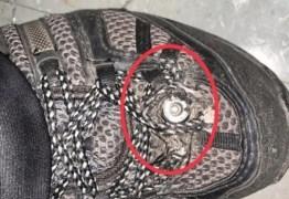 FLAGRANTE: Homem tinha câmera no tênis para filmar mulheres de saia