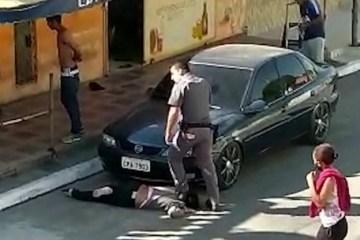 agressao - TRUCULÊNCIA POLICIAL: 'Achei que iria morrer sufocada', diz mulher negra que teve pescoço pisado por PM - VEJA VÍDEO