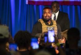 Kanye West usa colete à prova de balas e chora em 1º comício como candidato