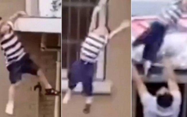 evnh3a732lv5ywegl4pvhovz8 - Criança cai do 5º andar e vizinho consegue salvar; VEJA VÍDEO