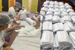 mascaras reeducandas 300x200 - Reeducandas do Sistema Penitenciário da Paraíba produzem máscaras cirúrgicas