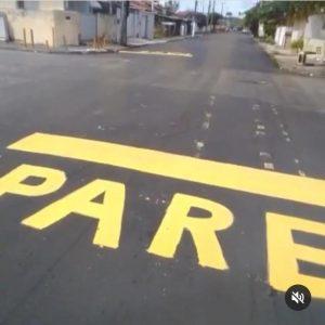 sinalizaçao jaguaribe 300x300 - Sem resposta da PMJP, moradores sinalizam por conta própria avenida em Jaguaribe