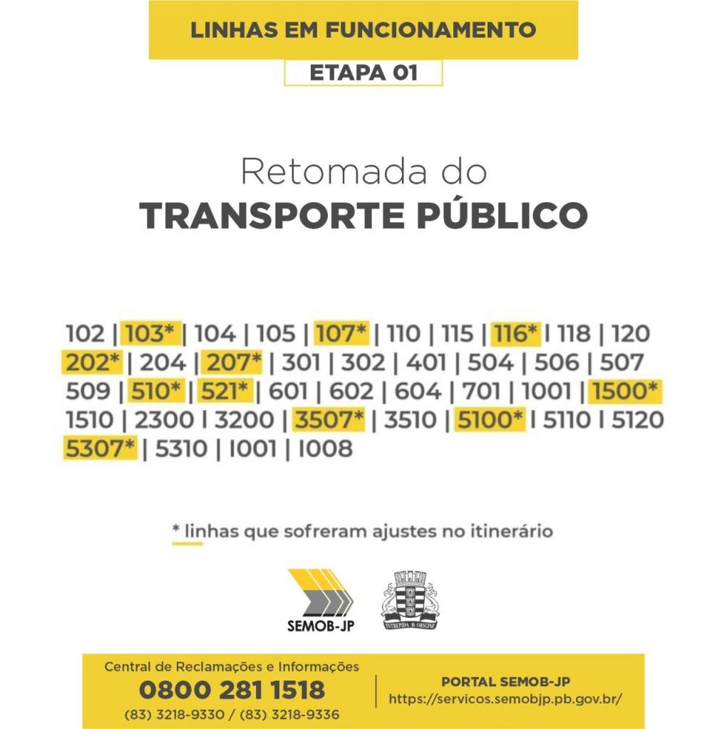 transporte publico - 250 ônibus voltam a circular nesta segunda-feira em João Pessoa