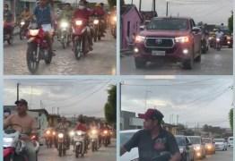 MANIFESTAÇÃO POLÍTICA: Carreata pró-Manoel Júnior causa aglomeração em Pedras de Fogo – VEJA VÍDEO