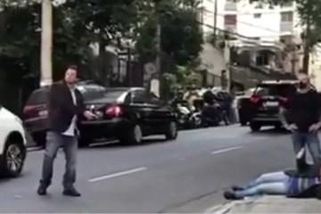 Capturarç - Ministro reage a assalto, corre armado e prende homem em São Paulo