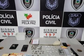 apreensoes drogas campina grande 12 de agosto - Traficante é preso em Campina Grande e Polícia Civil desarticula ponto de venda de drogas