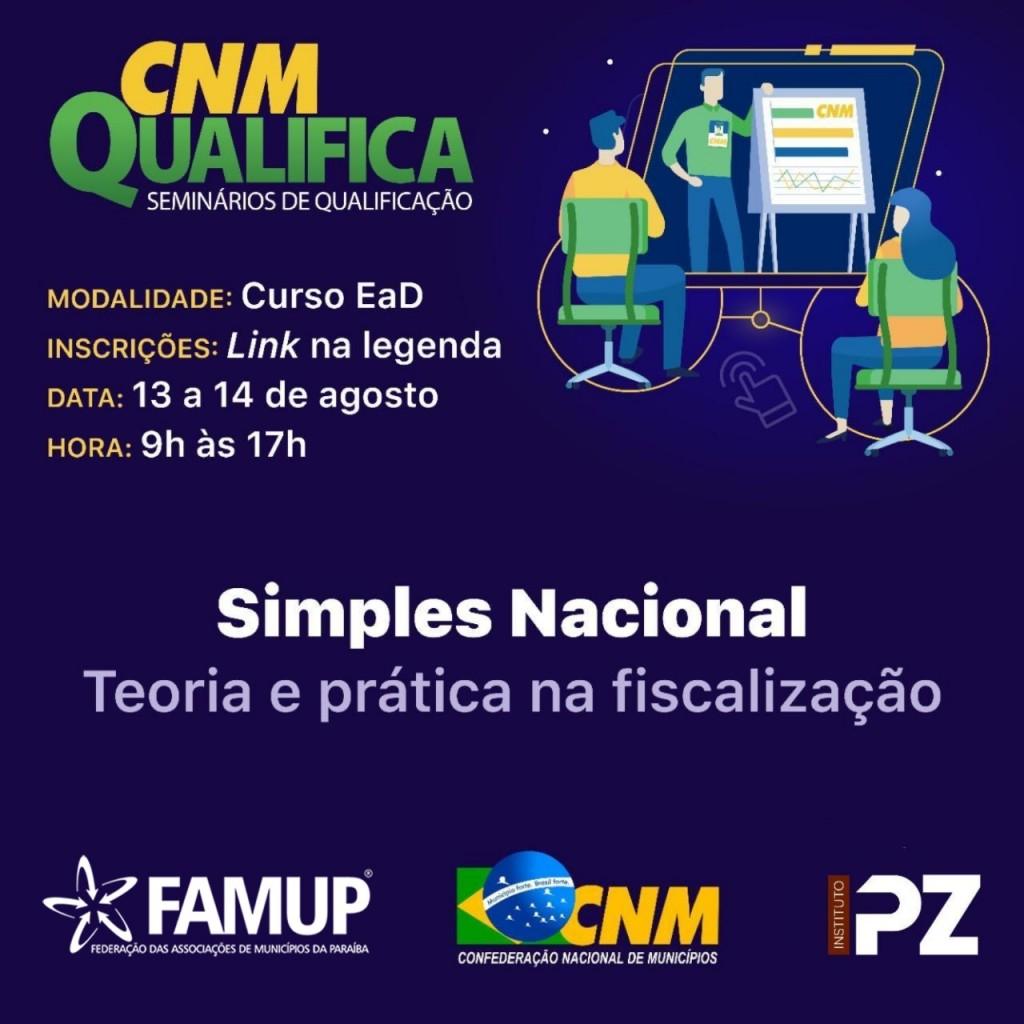 cnmm - CNM Qualifica retoma cursos discutindo Simples Nacional, Marco Regulatório e Licitações Públicas