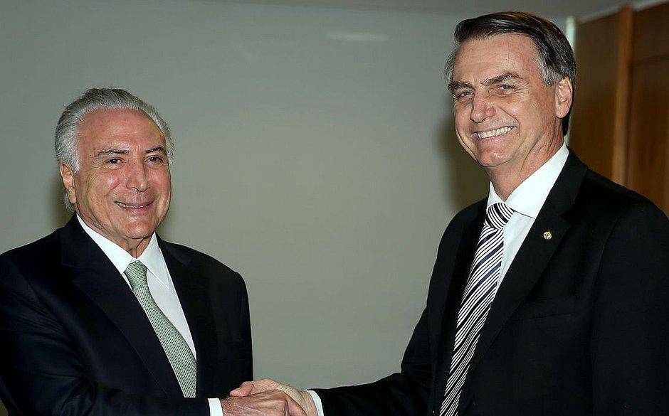 Bolsonaro convida Temer para chefiar missão brasileira no Líbano