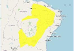 Alerta de baixa umidade é emitido pelo Inmet para 100 municípios na PB