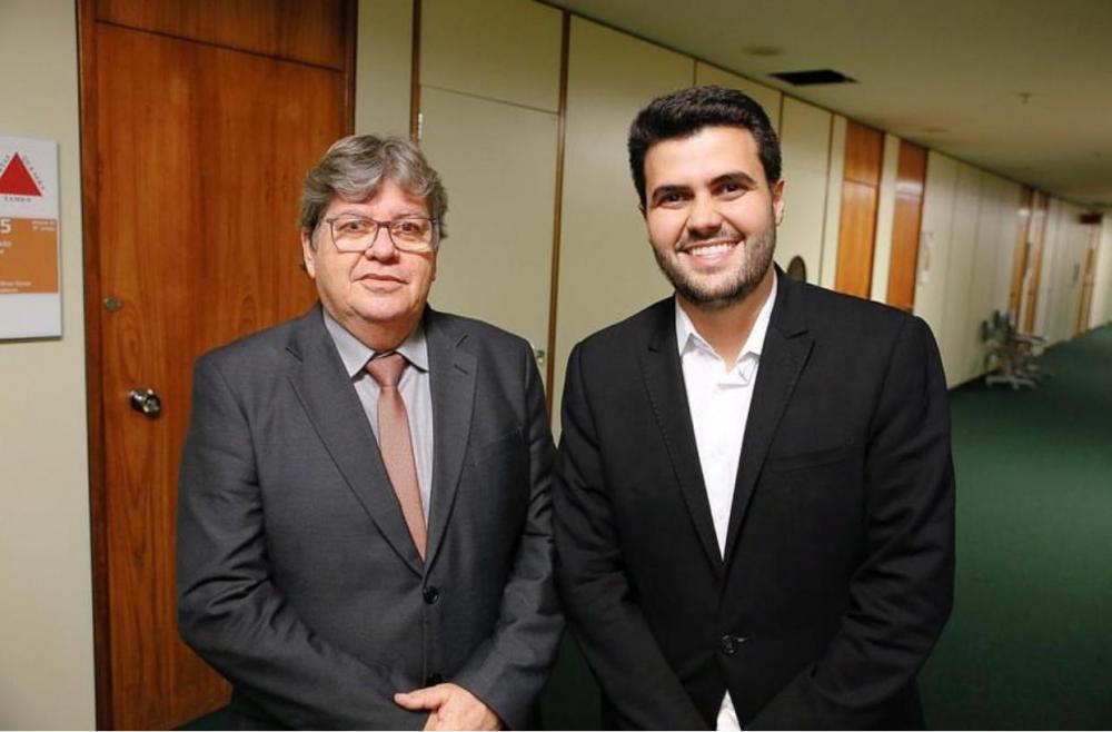 wilson filho e joao azevedo - ALIANÇA: Wilson Filho se reúne com João Azevêdo para discutir apoio do PTB a Cícero Lucena