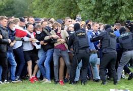 Cerca de 250 manifestantes são detidos em protesto na capital de Belarus