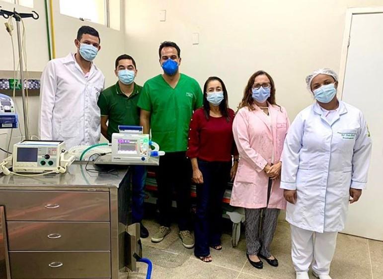 Capturarrr 2 - Prefeito de Pedras de fogo celebra chegada de novo equipamento para tratar insuficiência respiratória