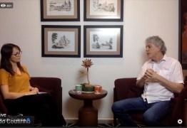Prefeitável Ricardo Coutinho promove live para falar sobre propostas para a Capital paraibana