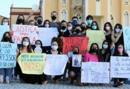 PROTESTO: população de Poço de José de Moura pede justiça para morte de Pâmela Bessa