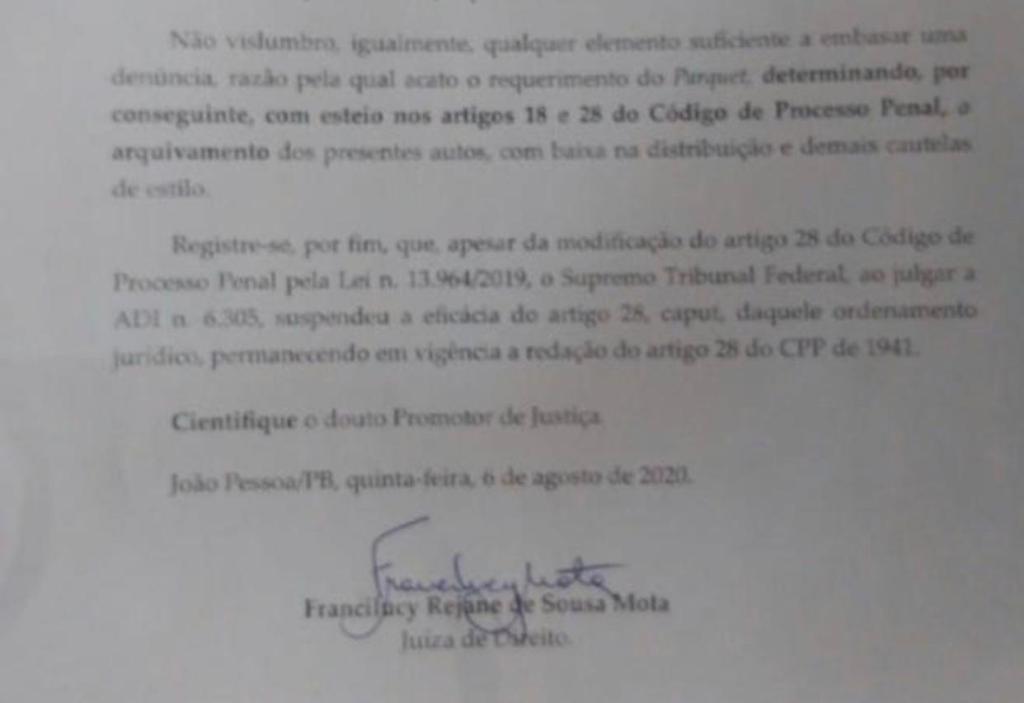 WhatsApp Image 2020 09 11 at 10.54.02 - INQUÉRITO ARQUIVADO: Justiça descarta qualquer participação de Ricardo Coutinho no caso Bruno Ernesto