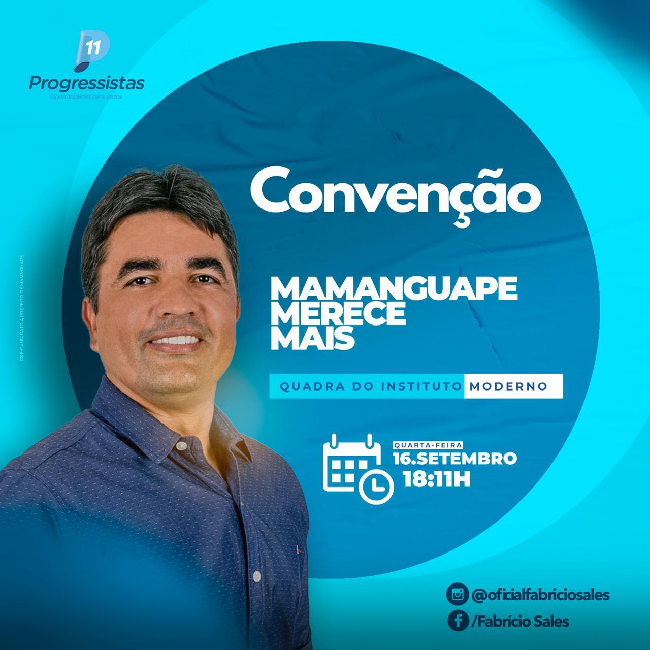 WhatsApp Image 2020 09 15 at 13.18.12 - Convenção do Progressistas de Mamanguape confirmará a candidatura de Fabrício Sales a prefeitura