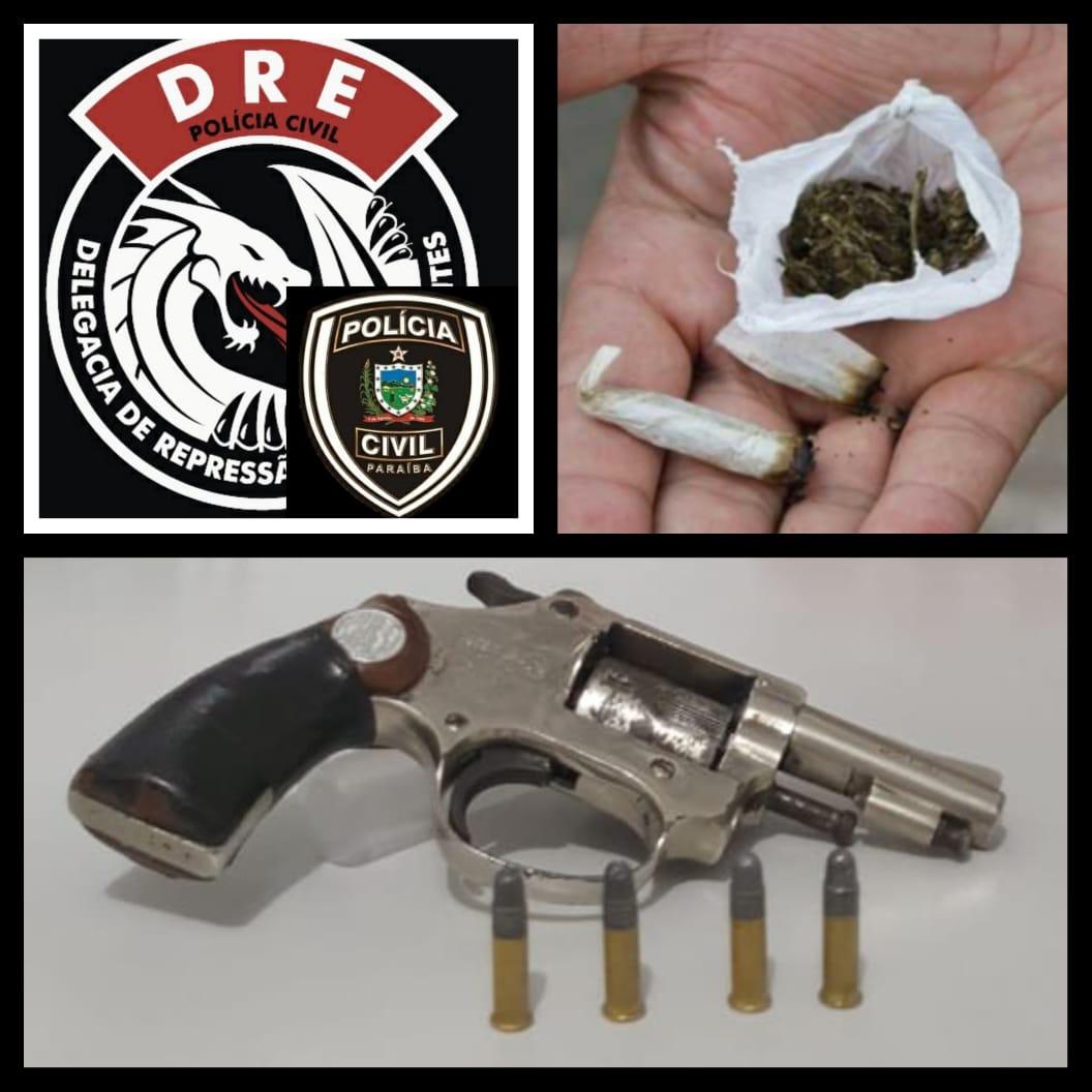 WhatsApp Image 2020 09 17 at 09.59.39 - Polícia Civil acaba com reunião regada à maconha e apreende drogas e arma em CG