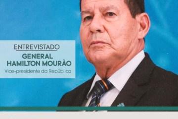 TV Arapuan entrevista vice-presidente Hamilton Mourão nesta segunda-feira (21)