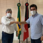 Governador João Azevedo e Wilson Filho em reunião
