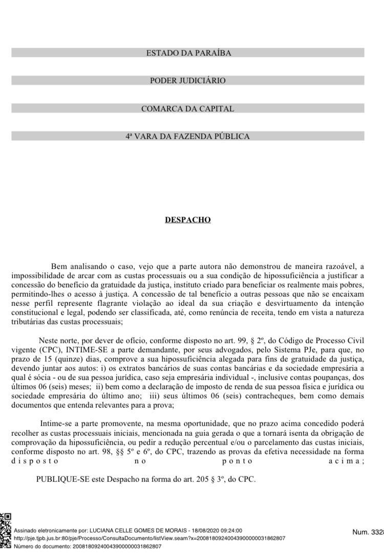 WhatsApp Image 2020 09 30 at 16.01.25 - INJUSTIÇA: Homem preso injustamente por 7 anos, tem pedido de justiça gratuita negado