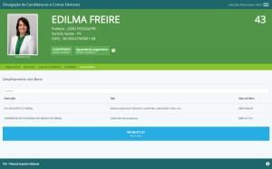 edilma freire 300x187 - Cinco candidatos à PMJP declaram patrimônio superior a R$ 1 milhão - VEJA RANKING