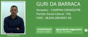 """guri da barraca 300x127 - Batatinha, Vovô do Cuités, Wilson Cabeludo e outros candidatos a vereador em Campina Grande também possuem nomes """"curiosos"""""""