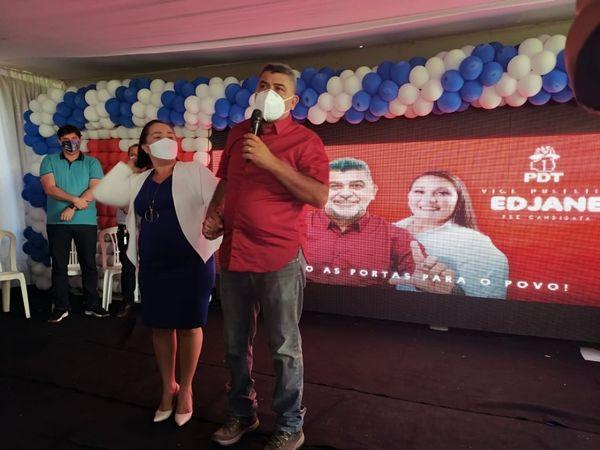 lenildo edjate - PATOS: Em convenção do PDT, pré-candidata Edjane Araújo anuncia que será vice na chapa de Lenildo Morais