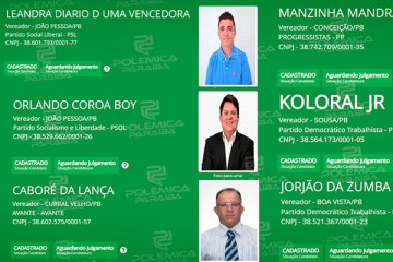 """nomes exóticos - """"MANZINHA MANDRAK"""", """"ORLANDO COROA BOY""""; """"CABORÉ DA LANÇA"""": Paraíba tem uma lista extensa de nomes exóticos a vereador – CONFIRA NOMES"""