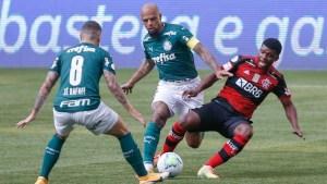 """palmeiras x flamengo 300x169 - Após polemicas e batalha judicial, Palmeiras e Flamengo empatam neste domingo (27) no """"Jogo da Discórdia"""""""