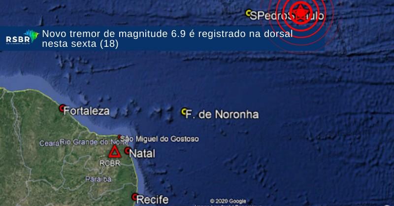 Terremoto atinge o Oceano Atlântico próximo a Fernando de Noronha; Não há risco de Tsunami