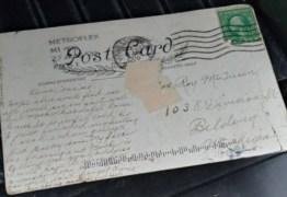 Cartão-postal chega com 100 anos de atraso