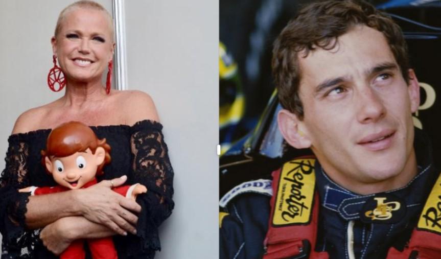 """xuxa e senna - """"ATÉ SEM DAR BEIJO NA BOCA"""": Xuxa revela que ficou dois anos e meio sem sexo após a morte de Ayrton Senna"""