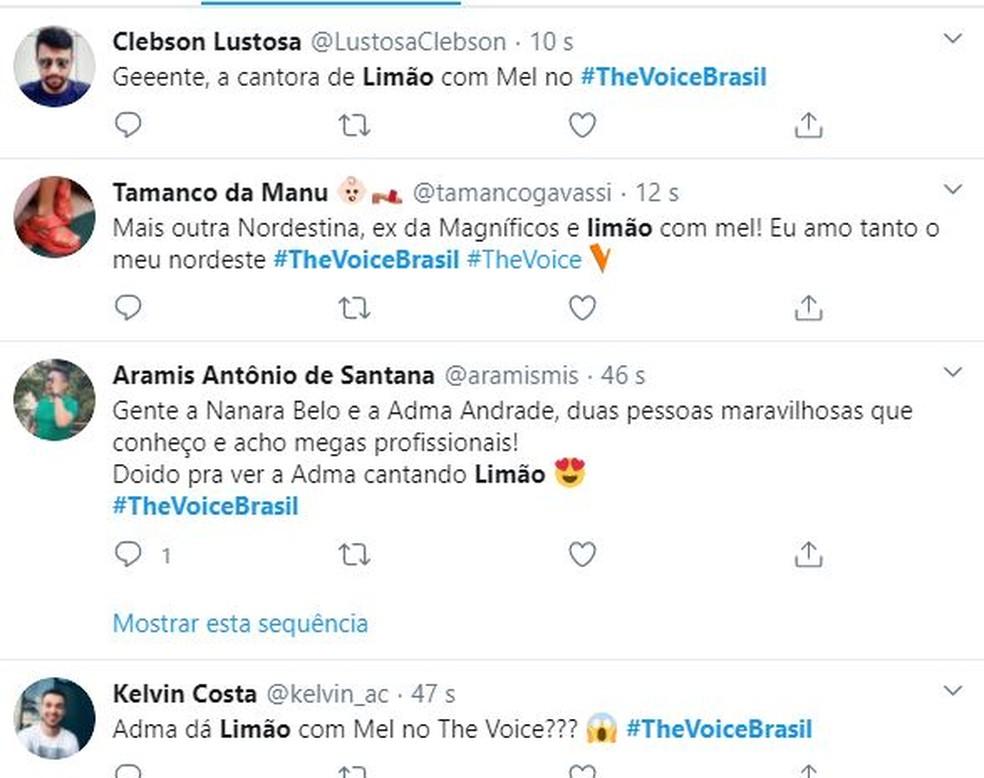01 1 - THE VOICE BRASIL: Mais uma paraibana é aprovada na primeira fase do programa; CONFIRA